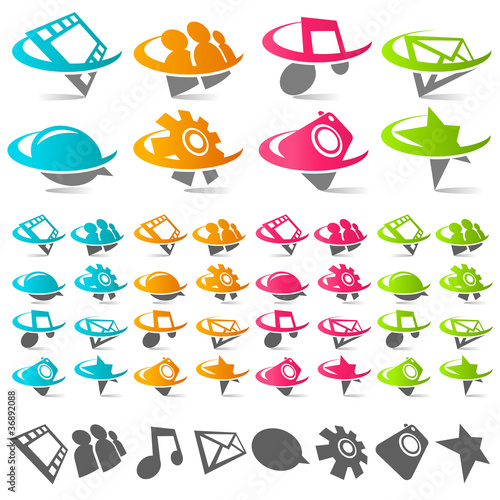 Swoosh Media Icons