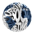 social network abstract globe