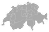 Fototapety Map of Swizerland