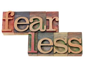 fearless word in letterpress type
