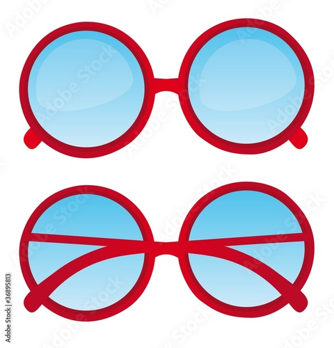 red nerd glasses