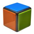 Cube isolated on white background