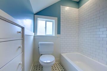 Luxury fresh green and white modern bathroom