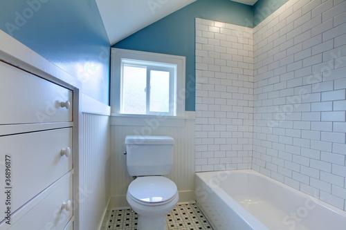 Leinwandbild Motiv Luxury fresh green and white modern bathroom