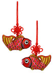 Chinese New Year prosperity fish ornaments poster