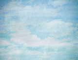 Fototapety wet watercolor sky blue abstract background