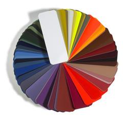round spread color chart