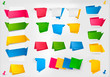 Huge set of colorful origami paper banners. Vector.