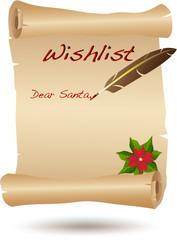 Santa's wishlist scroll