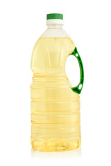 Vegetable oil in plastic bottle