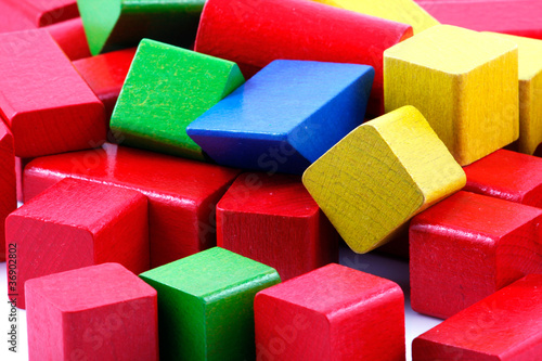 Wooden building blocks © Nenov Images