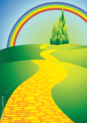 yellowbrickroadwithrainbow