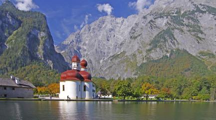 Die Postkarte - Königssee-Bartholomä-Watzmann