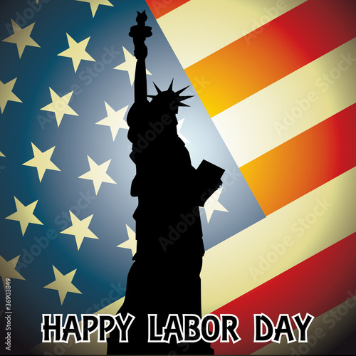happy labor day - illustration