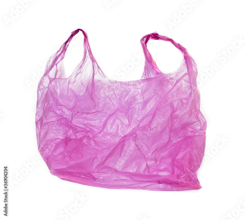pink plastic bag