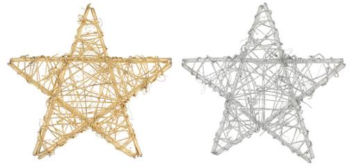 étoiles de noël en bois