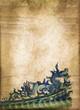 Dragon chinois, papier ancien