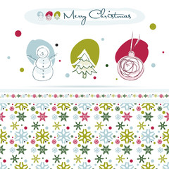 Christmas design elements, snowflake seamless pattern, EPS10