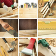 Woodwork collage