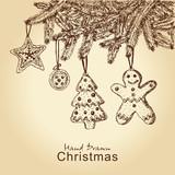 perník cookie na vánoční stromeček