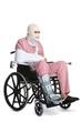 Injured man in a wheelchair