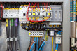 Leinwanddruck Bild - Electrical control panel