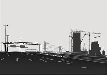 empty street near building city