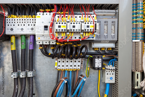 canvas print picture Electrical control panel