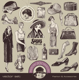 ladies fashion and accesssories of the 20s poster