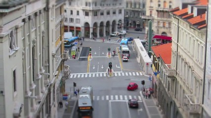 miniature effect on city traffic