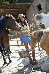 Giovane ragazza country
