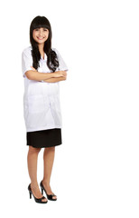 full length Nurse standing