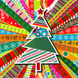 Scrapbook christmas patterns greeting card for design, vector