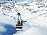 Fototapete Abheben - Alps - Wintersport