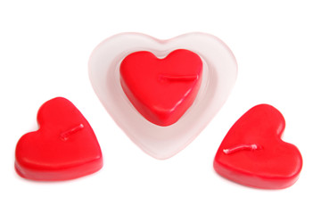 Heart-shaped candles