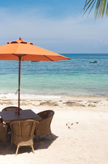 umbrella on beach