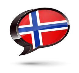 """Norwegian-Speaking"" 3D Speech Bubble"