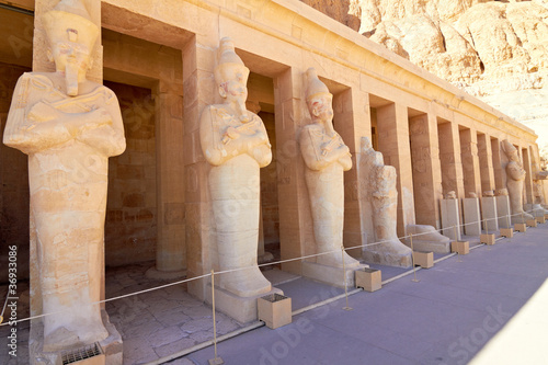 Statues of Queen Hatshepsut in her Temple