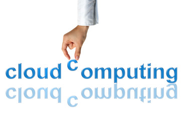 Cloud computing concept,  world wide data sharing