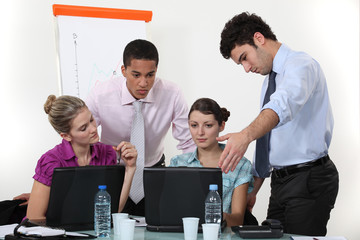 Students in sales training