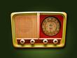 Leinwanddruck Bild - retro Radio
