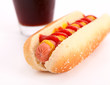 hot dog with black cola
