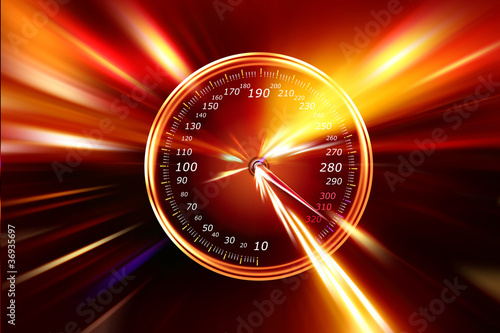 speedometer night road