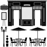 Business Boutique Commercial Shop Store Lot Exterior Design poster