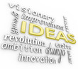 Ideas Word Background - Innovation Vision 3D Words