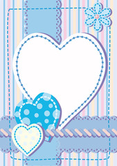 Background for congratulating on a heart