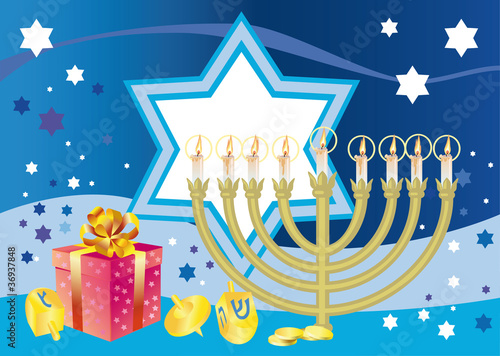 Glad background to the Jewish holiday Hanukkah