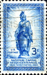 National Capital. Washington. 1850. US Postage.