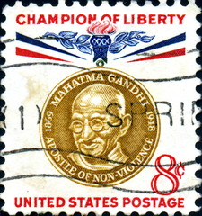 Mahatma Gandhi. Champion of Liberty. US Postage.