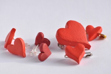 Red heart jewellery